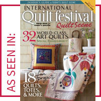 as seen in International Quilt Festival Quilt Scene