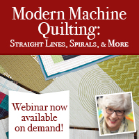Modern Machine Quilting Webinar